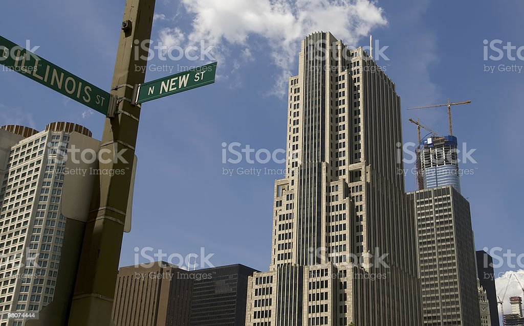 Illinois St, Chicago royalty-free stock photo