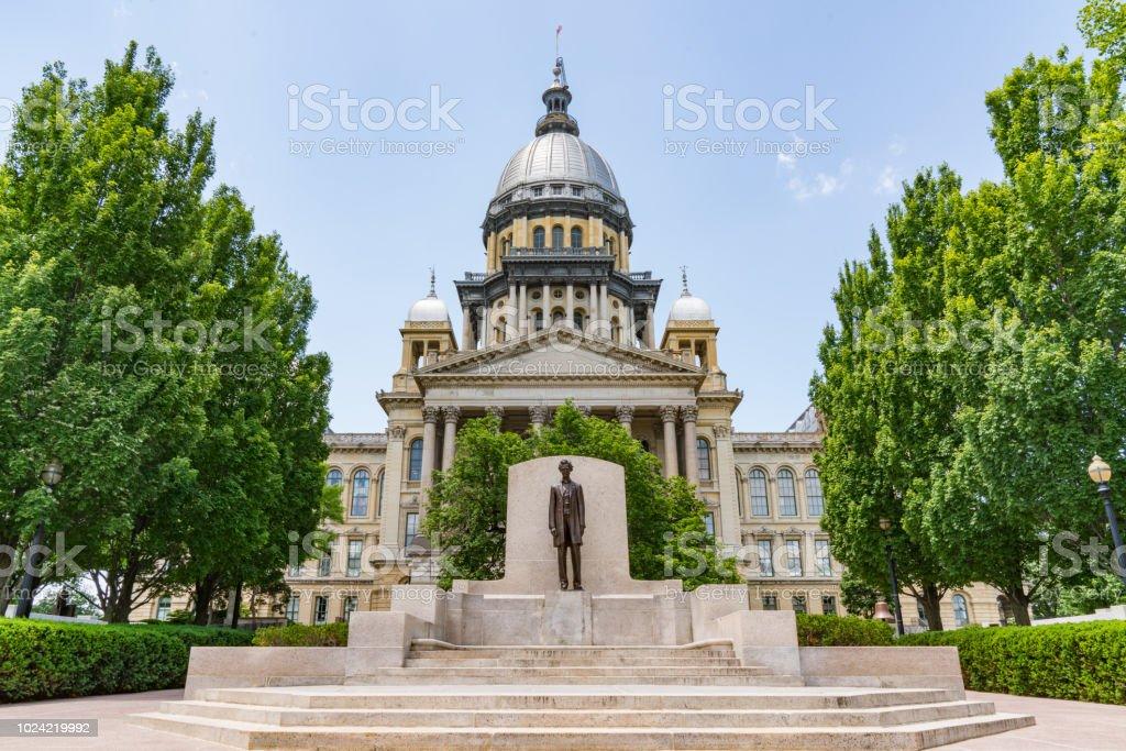 Illinois State Capital Building - Royaltyfri Abraham Lincoln Bildbanksbilder