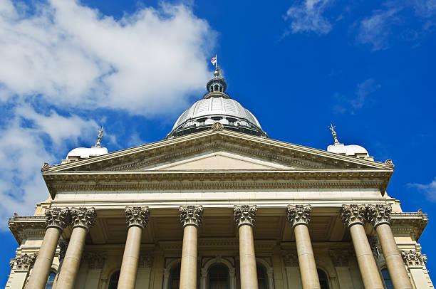 Illinois State Capital Building stock photo