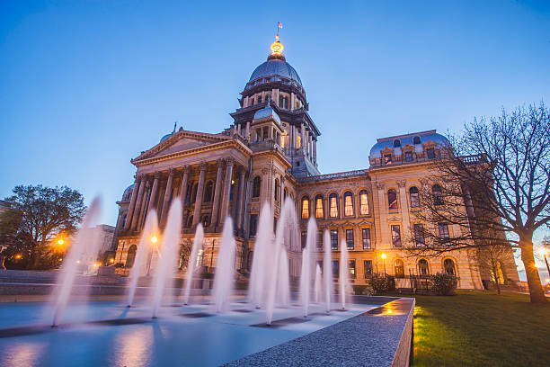 Illinois State Capitol Building stock photo