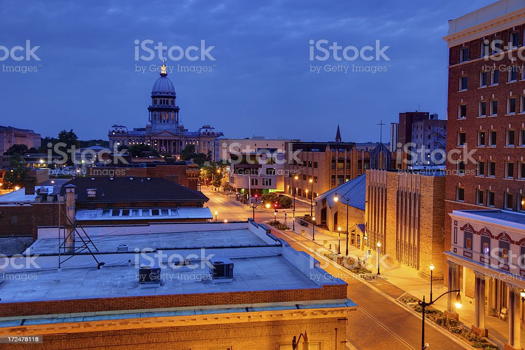 Illinois State Capitol royalty-free stock photo