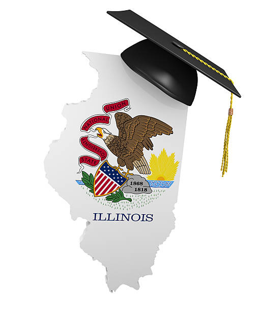 Illinois state college and university education stock photo