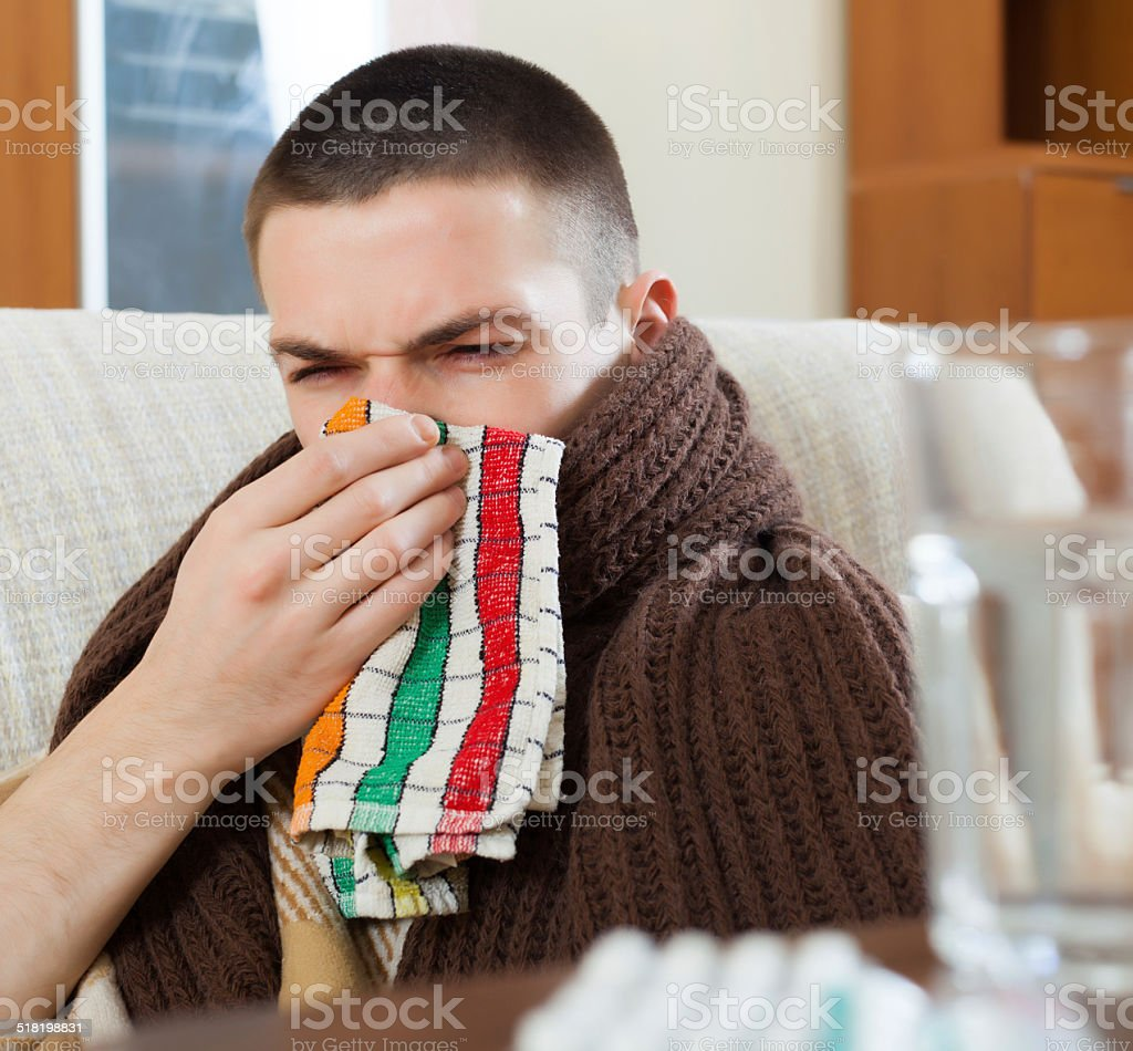 illness man stock photo