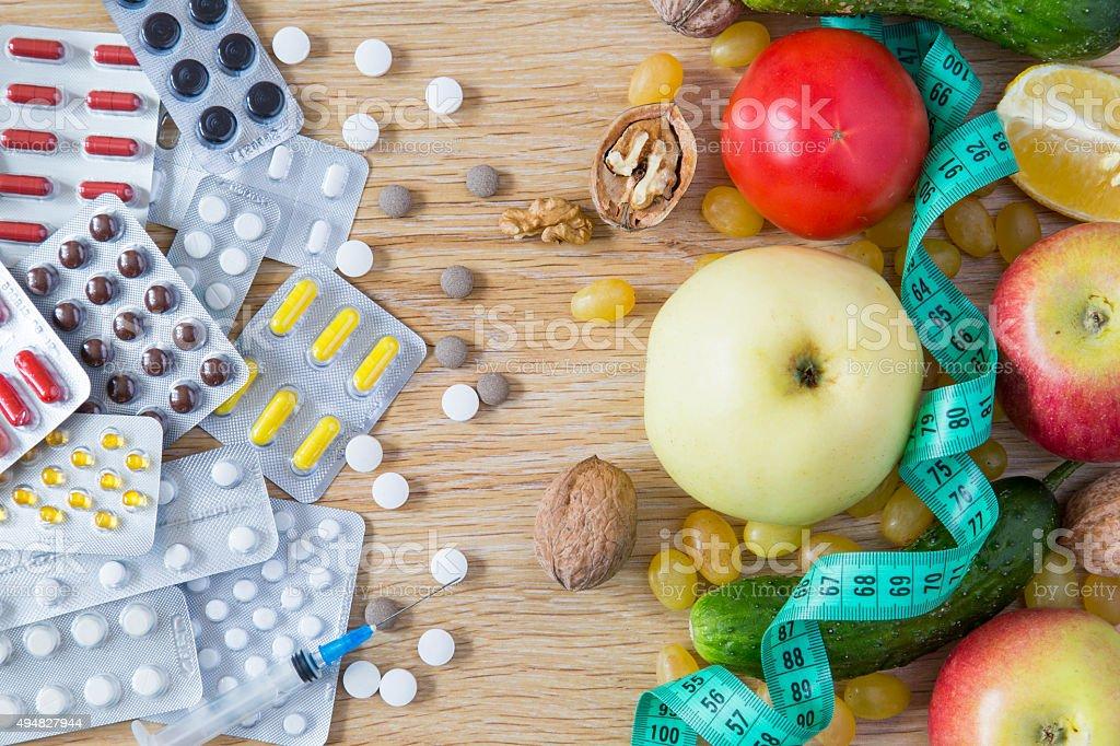 Enfermedad o de salud - foto de stock