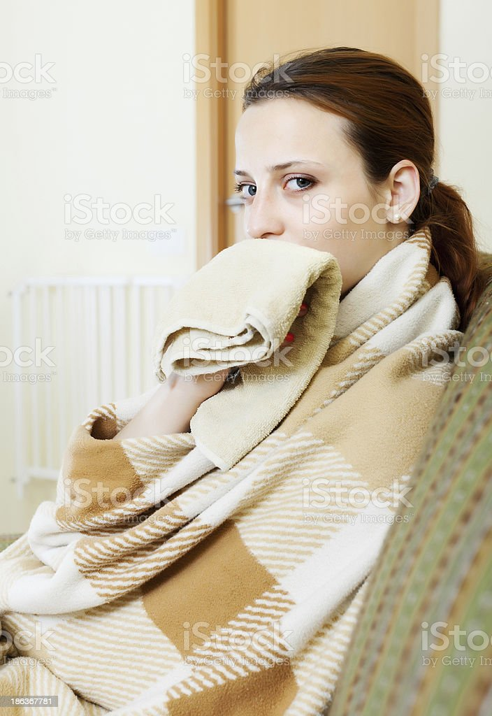 illness woman stock photo