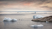 istock Illulissat Fjord Greenland Sunset Panorama Coastal Icebergs 1267828695