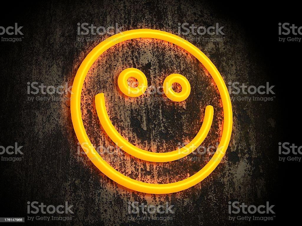 Illuminate smiley royalty-free stock photo
