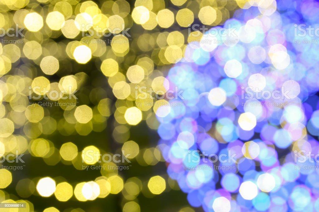 Fundo iluminado da decoração de Natal - foto de acervo