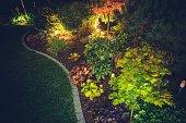 istock Illuminated Backyard Garden 838371124