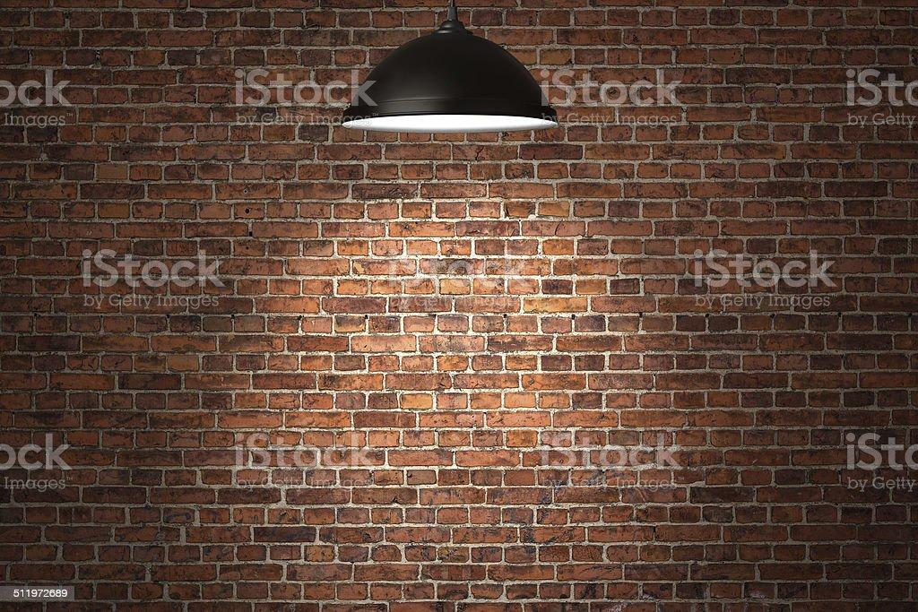 Illuminated birick wall background