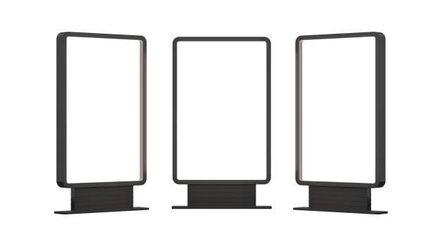 Panneaux d'affichage blanc lumineux - Photo