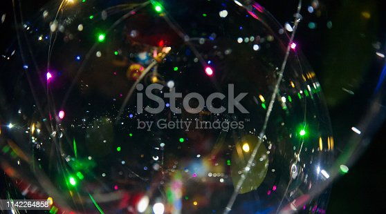 istock Illuminated blurry colourful lights photo 1142264858