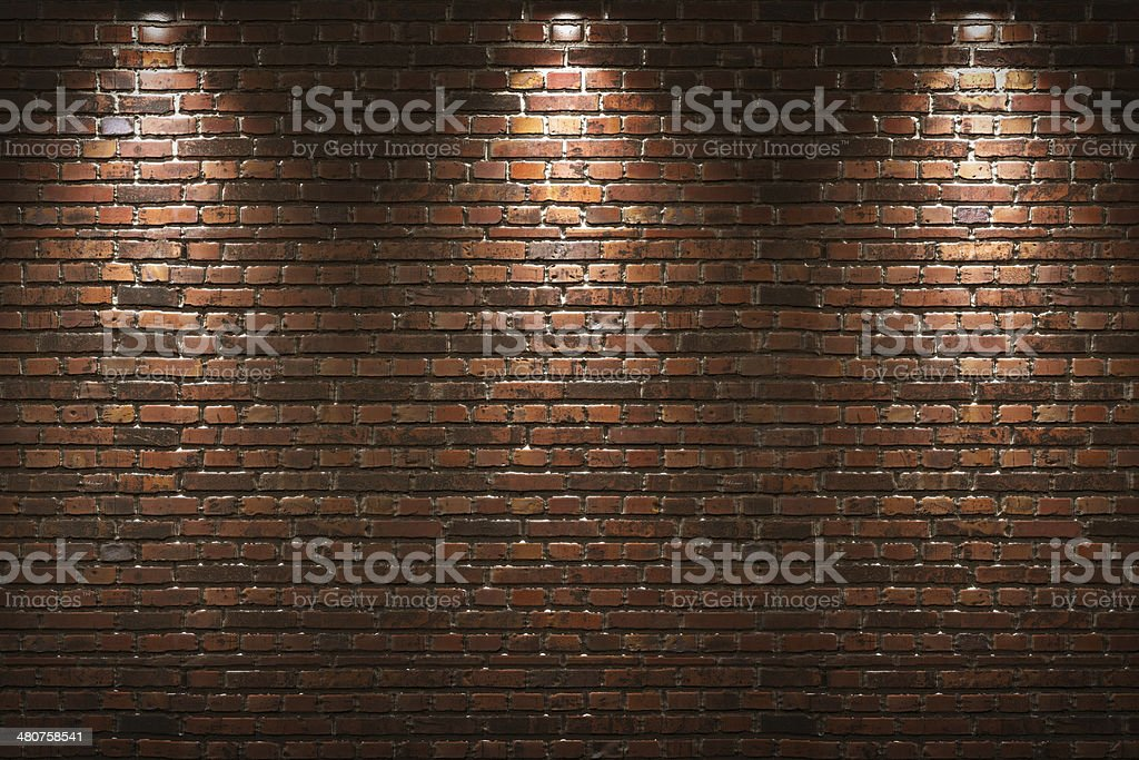 Illuminated brick wall​​​ foto
