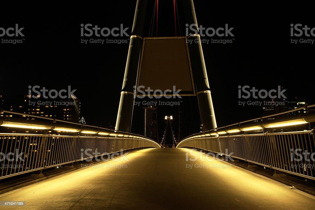 illuminated bridge royalty-free stock photo