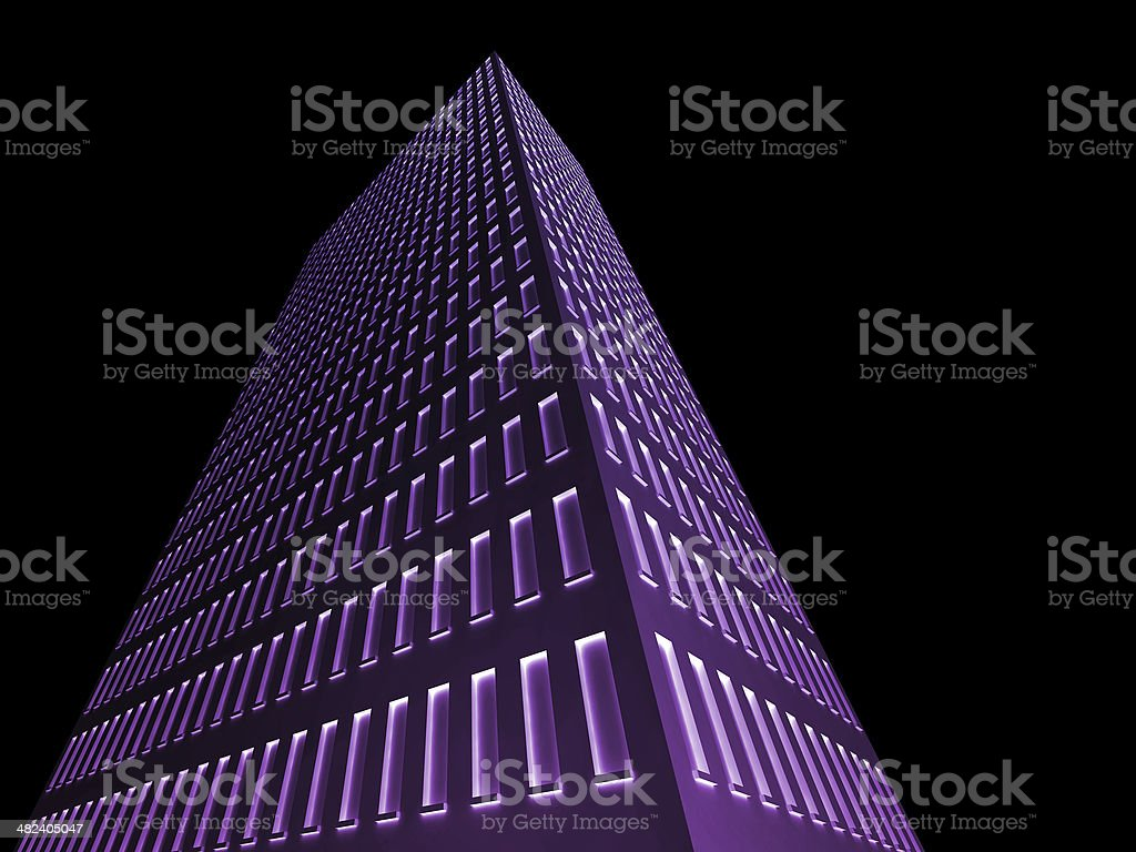 Illuminated Building stock photo