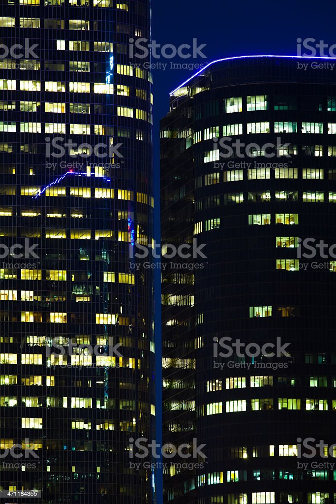 Illuminated Buildings In Los Angeles royalty-free stock photo
