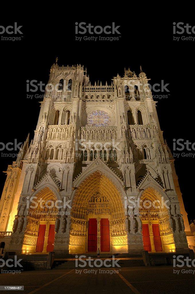 Illumination de la cathédrale Notre-Dame d'Amiens - Photo