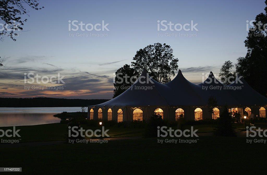 Illuminated Celebration Tent stock photo