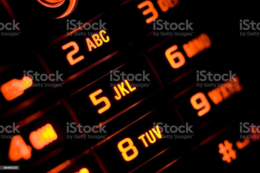 Illuminated cell phone royalty-free stock photo