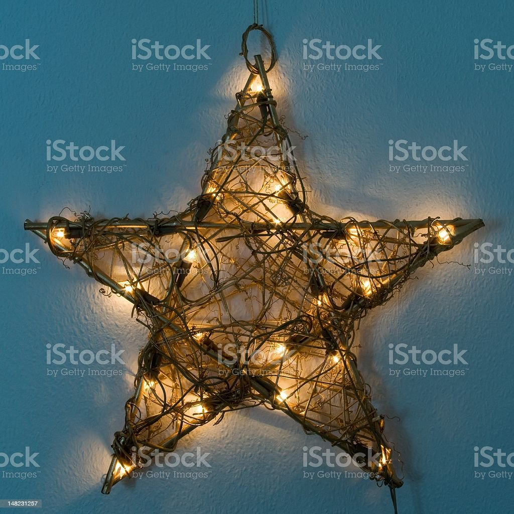 Illuminated Christmas Star royalty-free stock photo