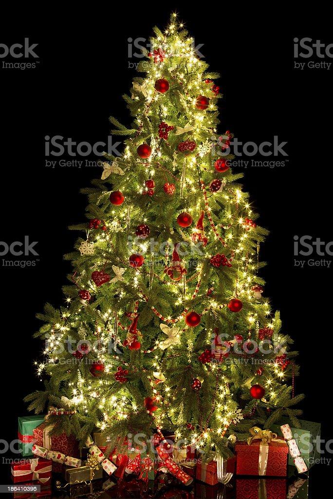 Illuminated christmas tree royalty-free stock photo