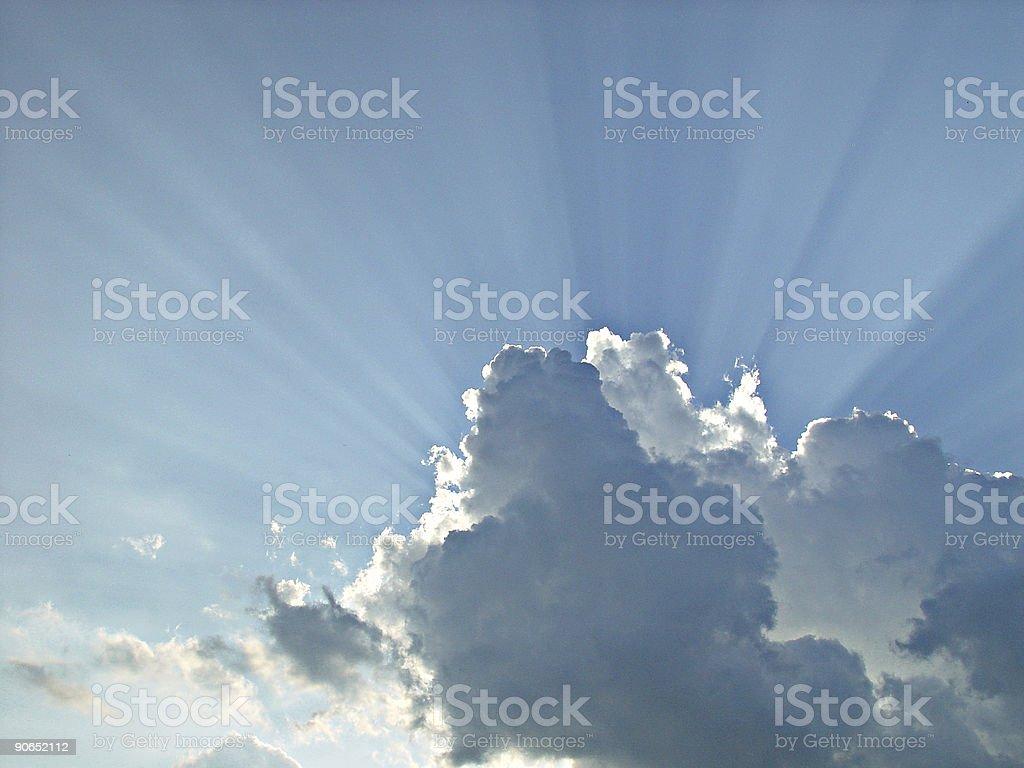 Illuminated Clouds stock photo
