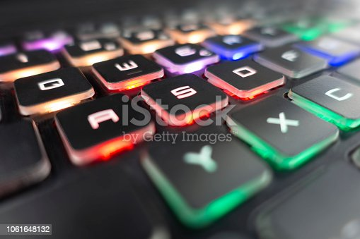 Illuminated computer keyboard