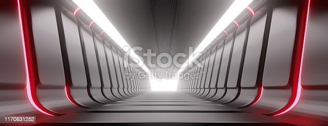 949309726 istock photo Illuminated corridor abstract tunnel. 1170631252