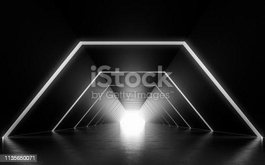 611897876 istock photo Illuminated corridor 1135650071