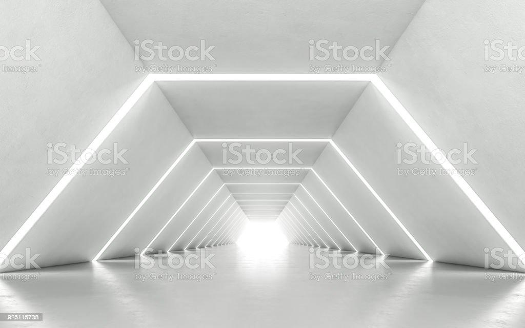 Illuminated corridor royalty-free stock photo