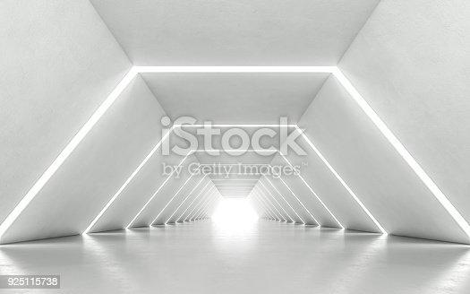istock Illuminated corridor 925115738