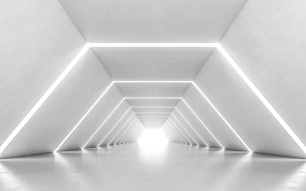 illuminated corridor - futuristic stock pictures, royalty-free photos & images