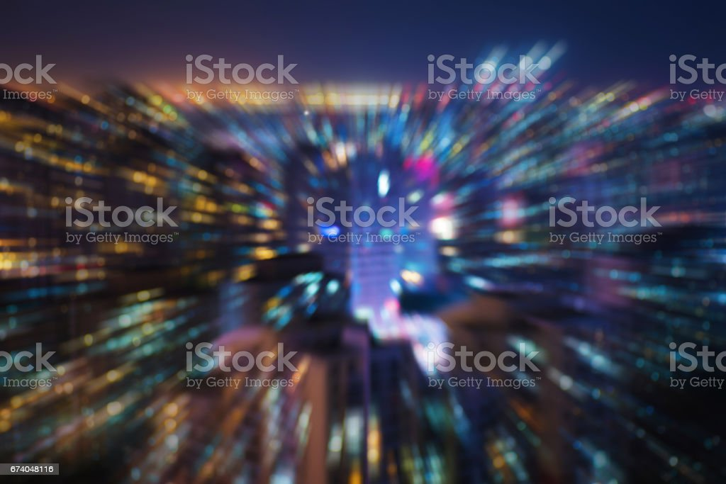 Illuminated Defocused Lights at night,Beijing,China. royalty-free stock photo