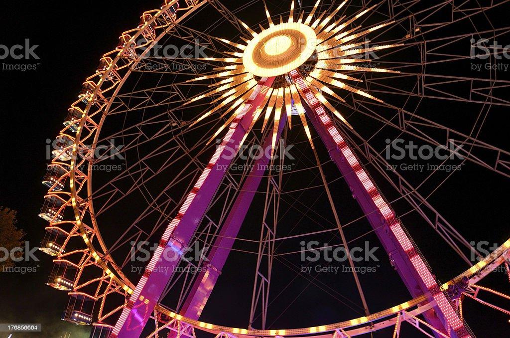 Illuminated Giant Wheel royalty-free stock photo