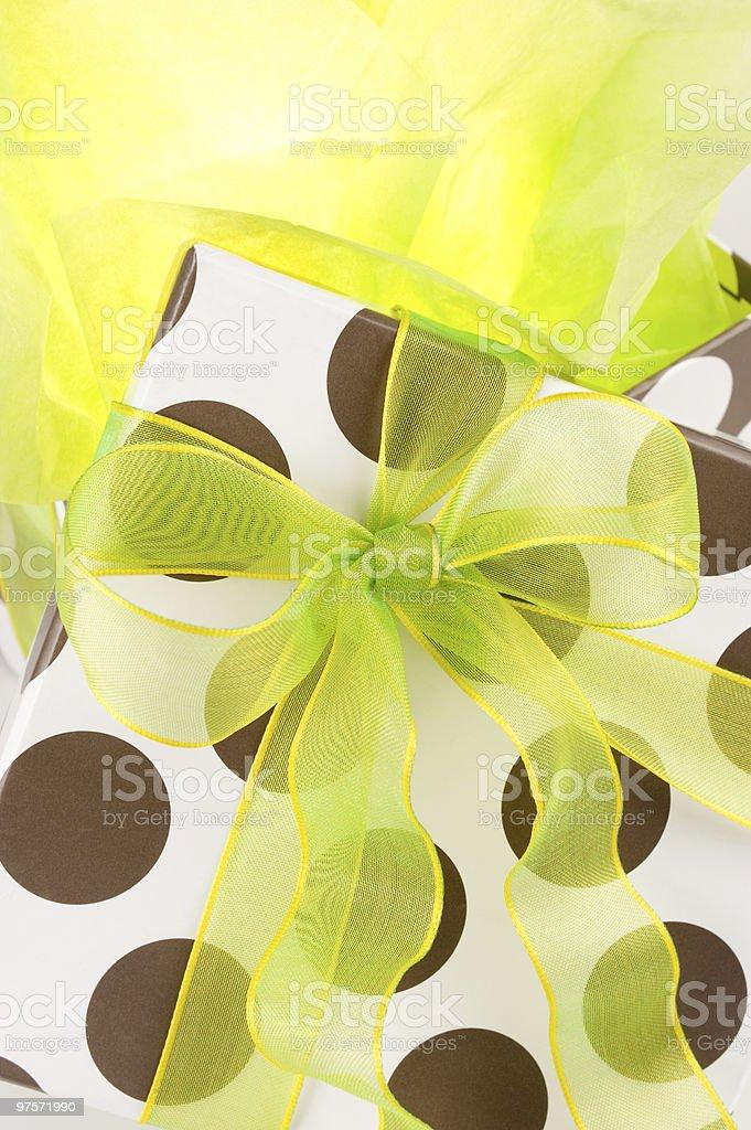 Illuminated gift royalty-free stock photo