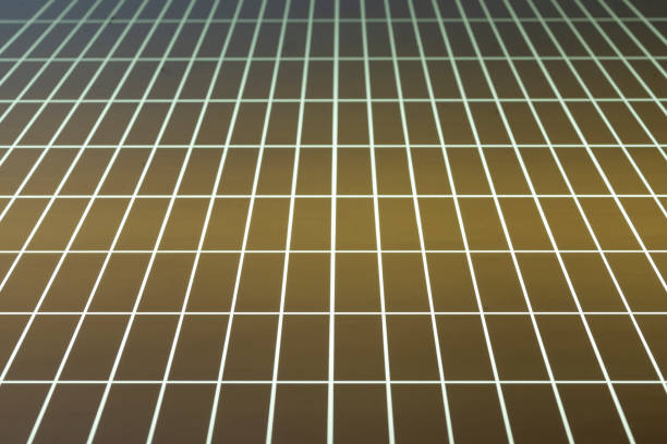 Illuminated glass plate with a rectangular grid. Durchleuchtete Glasplatte mit einem Rechteckraster. perspektive stock pictures, royalty-free photos & images