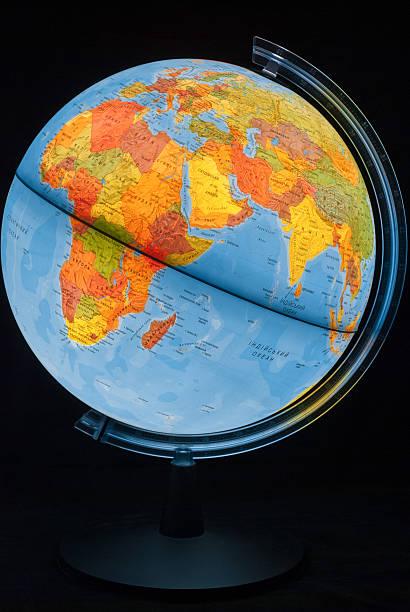 Illuminated globe Illuminated globe equator stock pictures, royalty-free photos & images