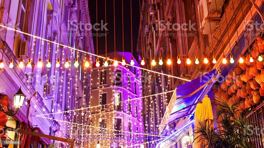 Illuminated Istanbul royalty-free stock photo