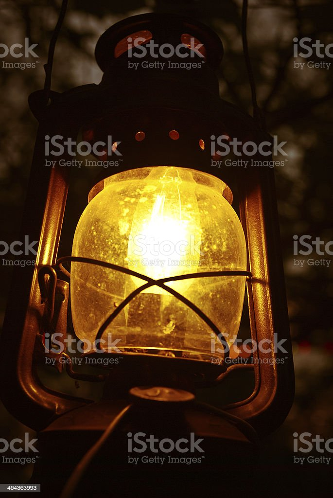 illuminated lantern royalty-free stock photo