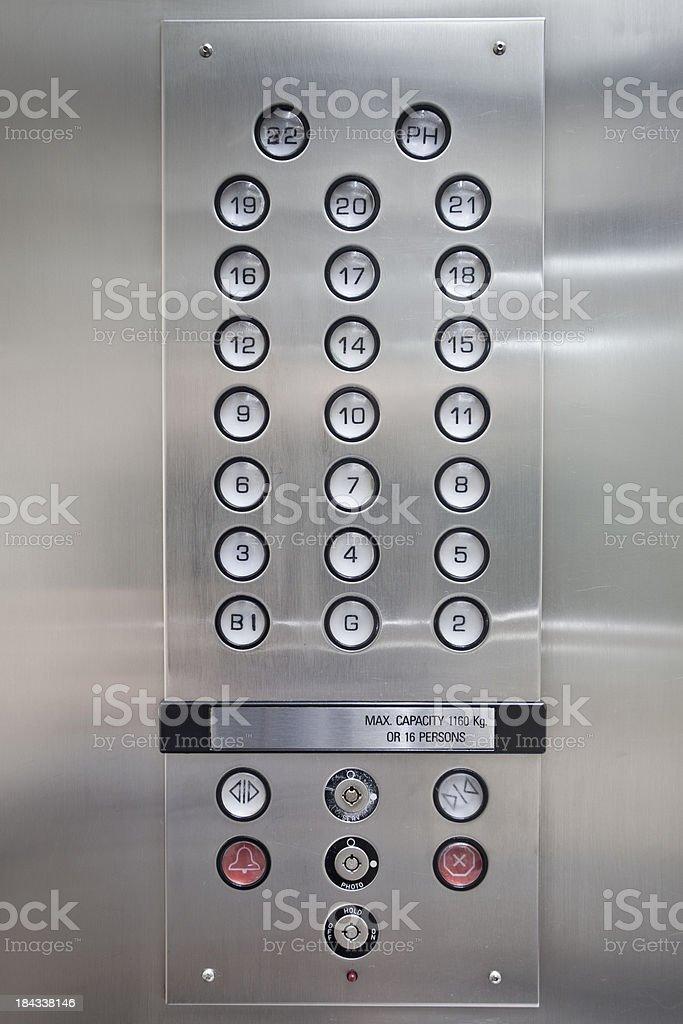 Eliminar botón iluminado de primer plano - foto de stock