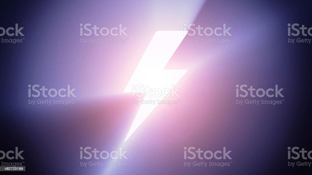 Illuminated lightning stock photo