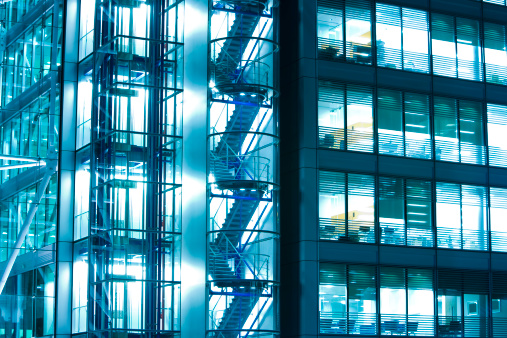 modern office building at night in LondonClick here to view more related images: