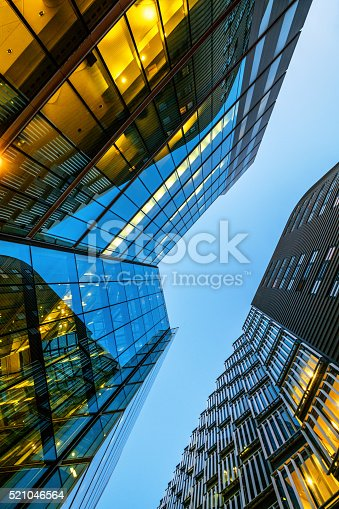 istock Illuminated Office Building in London, UK 521046564