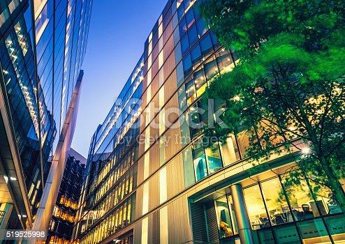 istock Illuminated Office Building 519525998
