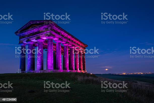 Photo of Illuminated Penshaw Monument at Night
