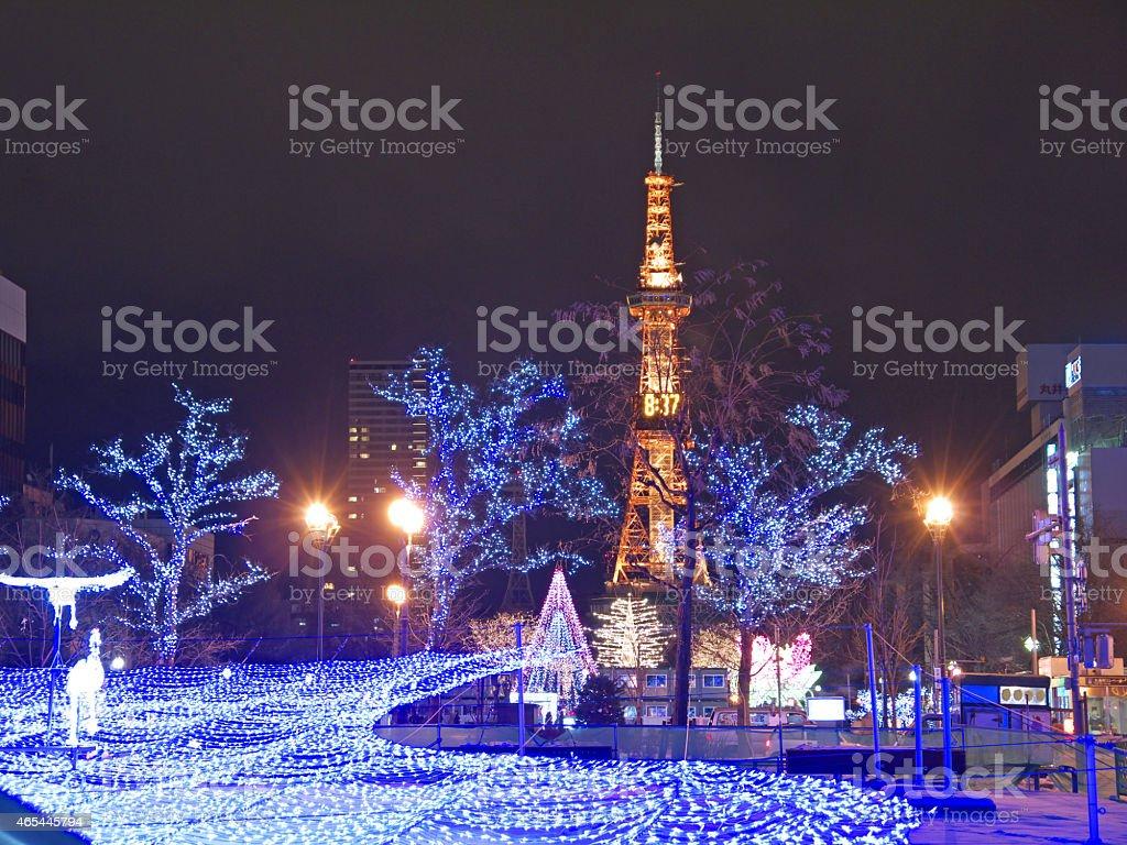 札幌新年の照明 - 2015年のロイヤリティフリーストックフォト