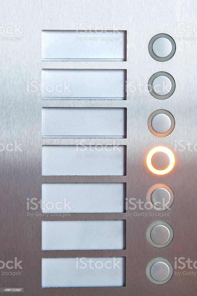 Iluminado botón de selección - foto de stock
