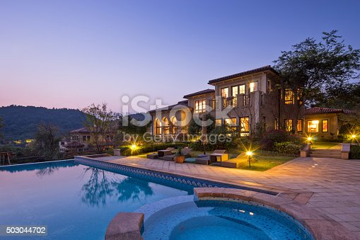 istock illuminated sky and outside of waterfront buiding 503044702