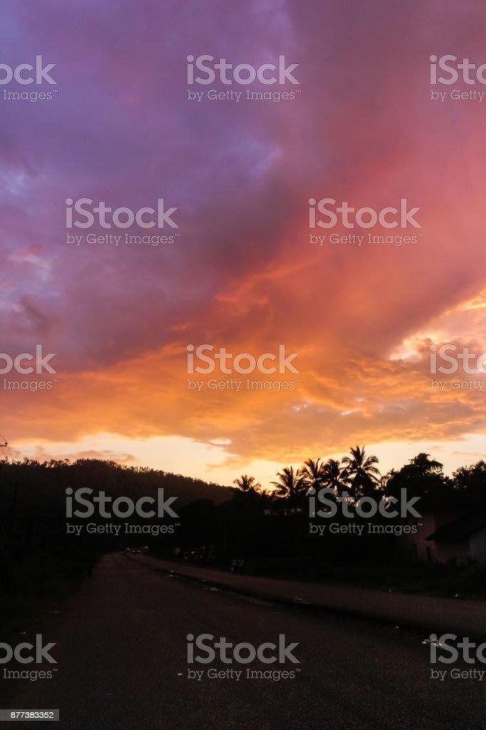 Illuminated sky stock photo