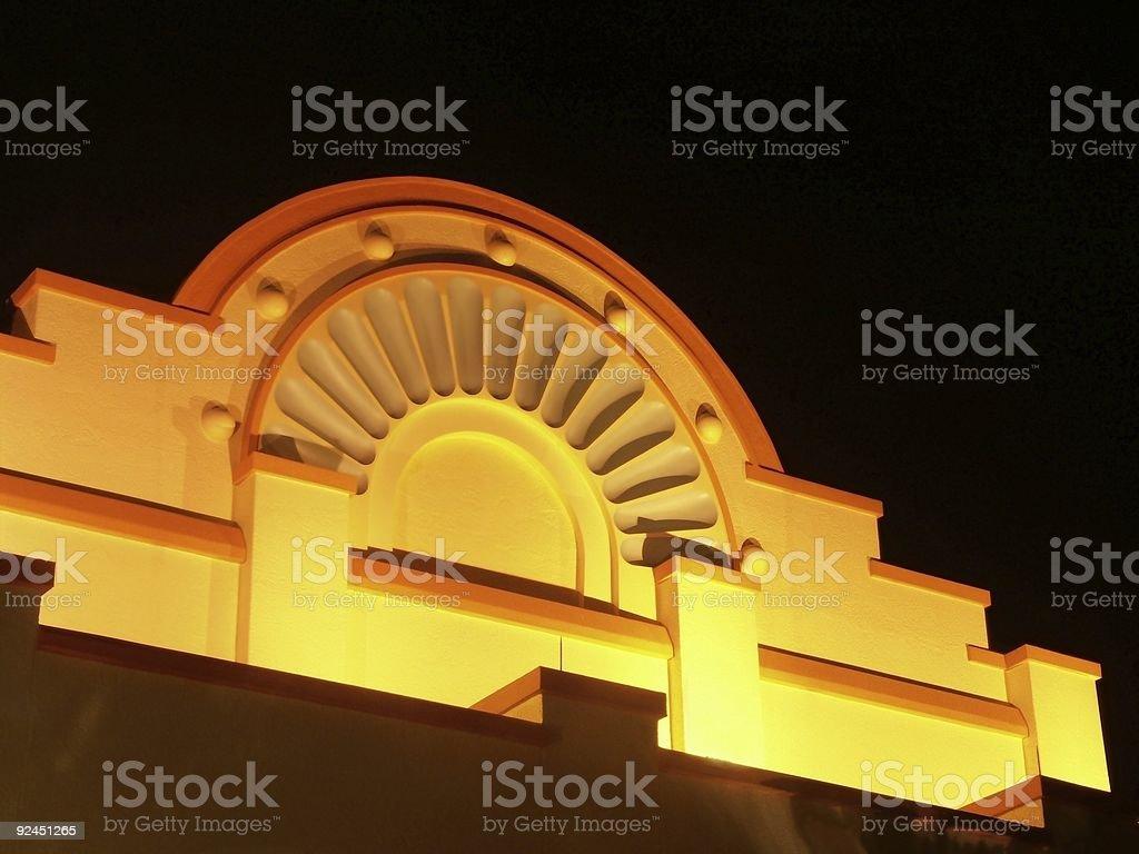 Illuminated Southwestern Facade royalty-free stock photo